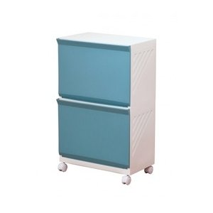 平和工業 ランドリーボックス2段 Clevan322 ブルー|daily-goods-shop
