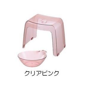 リッチェル バス用品 カラリ30H 2点セット クリアピンク|daily-goods-shop