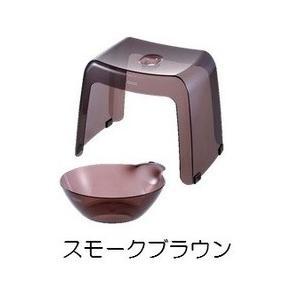 リッチェル バス用品 カラリ30H 2点セット スモークブラウン|daily-goods-shop