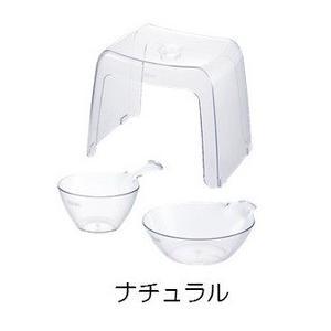 リッチェル バス用品 カラリ30H 3点セット ナチュラル|daily-goods-shop