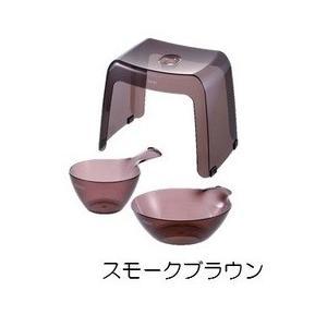 リッチェル バス用品 カラリ30H 3点セット スモークブラウン|daily-goods-shop