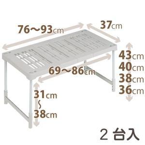 天馬 PRX ピタッ!と伸びるん棚 レギュラータイプ 2台入|daily-goods-shop