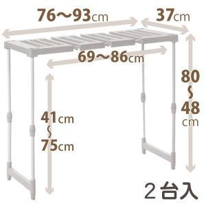 天馬 PRX ピタッ!と伸びるん棚 トールタイプ 2台入|daily-goods-shop