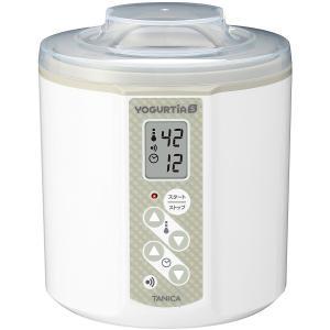 TANICA 温度調節(25〜70℃) ・タイマー・ブザー付ヨーグルトメーカー ヨーグルティアS 1200ml YS-01 (ホワイト)|dailystep