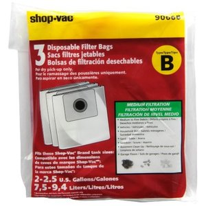 Shop-Vac 90668 2-2.5 Gallon Type B All Around Collection Bag, 3-Pack by|daim-store