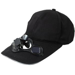 EOZY五つカラー選ばれ ゴルフ、野球に 暑い夏 スポーツ、アウトドア 太陽力で お洒落男女兼用ソーラー帽子キャップ 扇風機が付き「黒い」 daim-store