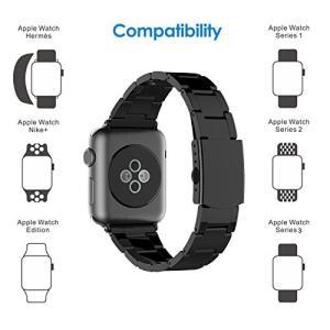 ステンレス留め金製のApple Watch,42mmのApple watch簡単に交換可能。高級品質...