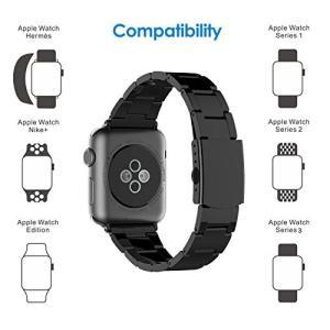 ステンレス留め金製のApple Watch,38mmのApple watch簡単に交換可能。高級品質...