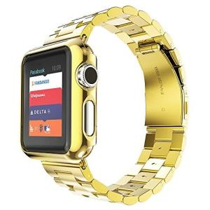 Apple Watchバンド、ソリッドステンレススチールメタルストラップバンドW /アダプタ+ケースカバーfor Apple Watch|daim-store