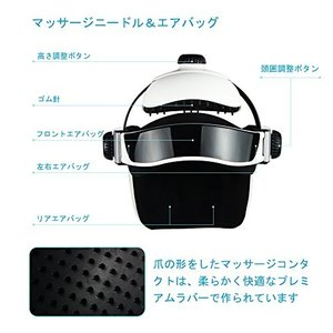 REAQER ヘッドマッサージャー ヘッドマッサージ器頭マッサージャー頭皮マッサージ振動マッサージ器ヘッドスパ頭皮ケアヘッドエステ立体型超軽量美顔器|daim-store