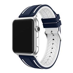 Apple Watch バンド 42mm シリコン スポーツベルト ステンレス金具 軽量 カジュアル 運動 for Apple Watch 1/|daim-store