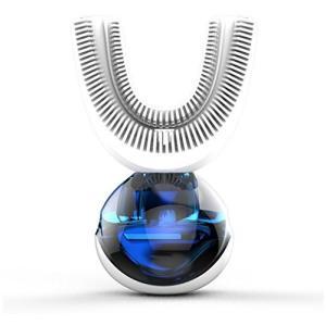 Natood自動歯ブラシ、2本の歯ブラシヘッド付き、怠惰な電動歯ブラシワイヤレス充電式360°自動歯ブラシ用に設計されています , white|daim-store