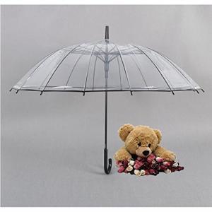 (サンワールド)Sunworld 透明な傘 長傘 ジャンプ傘 おしゃれ ドーム型 高強度グラスファイバー採用 梅雨対策 バブルアンブレラ 男女兼用 daim-store