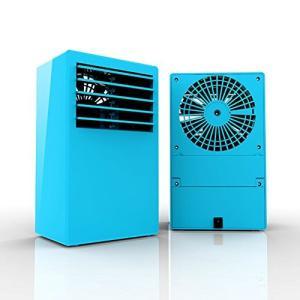 小さな] ガス ミニ,携帯用エアコン ファン個人の静かなテーブル ファン ミニ蒸発空気送風クーラー加湿器-ブルー daim-store