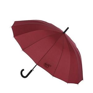 傘 激しい風と激しい雨のために耐久性とStrongEnough 16リブと32インチオートオープン傘長い傘 (色 : A)|daim-store