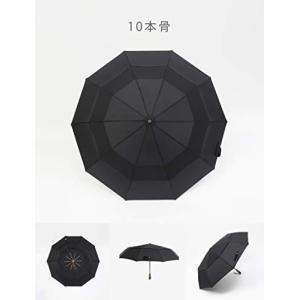 【2重構造超強耐風】2重構造と強度高い素材の枠組の組合で、この折り畳み傘は防風力が普通な傘より高いで...