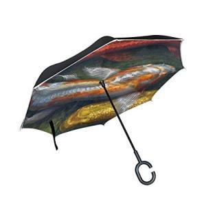【ワンタッチ自動式?逆転デザイン】この新製品はボダン自動式を採用して、片手でも傘を開けれます。逆折設...