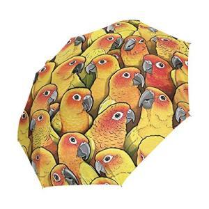 折りたたみ傘 インコ鳥 1 日傘 ワンタッチ自動開閉 超軽量 完全遮光 uvカッ レディース傘頑丈な8本骨 耐風撥水 紫外線対策 遮熱効果 晴雨兼用|daim-store