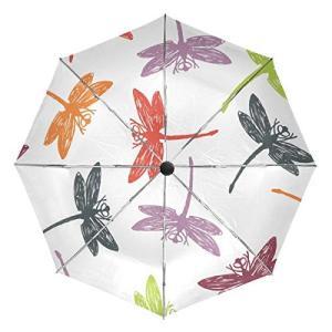 かわいい魚の海藻傘 大型 旅行 自動開閉 日焼け防止傘 レディース メンズ 42.5 Inches canopy ブラック|daim-store