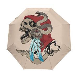 Nigbin Art ブラック オコパス 傘 自動開閉 旅行用 日よけ 防風傘 男女兼用 42.5 Inches canopy ブラック|daim-store