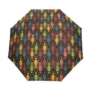 Nigbin キュート 音楽 猫 傘 自動開閉 旅行 日よけ 防風 傘 レディース メンズ 42.5 Inches canopy ブラック|daim-store