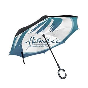 Mr.煌 逆さ傘 逆転傘 逆折り式傘 自立傘 車用傘 ハワイ ココナッツの木 旅行 C型手元 晴雨兼用 男女兼用 102370|daim-store