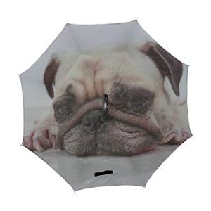 CKYHYC 逆さ傘 犬の頭の姿 長傘 逆折り式傘 折りたたみ傘 逆転傘 手離れc型手元 耐風 撥水 車用 晴雨兼用 8本骨 梅雨対策 Uvカット|daim-store