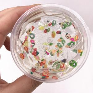 スライム 透明 スライス フルーツ サラダ キット セット 安全 ホウ砂 なし 3D ふわふわ フォーム クレイ DIY ソフト 教育 クラフト おも daimachi