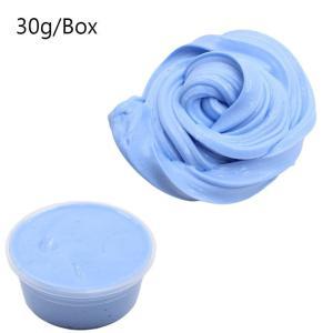 ふわふわ 粘液粘土 DIY フォームビーズボックス コットンボールキット 工芸品 おもちゃ 用品  ブルースライム daimachi