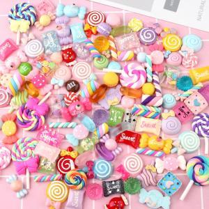 100 個 樹脂 お菓子 スライム ビーズ DIY 工芸 スクラップブッキング 装飾品 おもちゃ daimachi