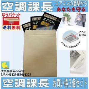 エアコンの直撃からあなたを守る【空調課長】お買い得3個セット|daimarubio