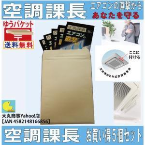 エアコンの直撃からあなたを守る【空調課長】お買い得5個セット|daimarubio
