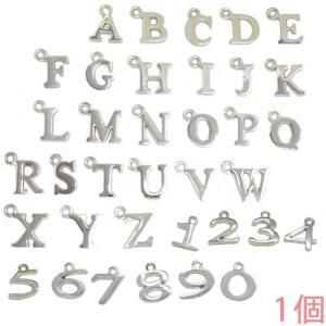 アルファベットチャーム&数字チャーム キャストチャーム PE1000 (A〜Z/0〜9) ニッケル 1個入り (チャームのみ)【ゆうパケット可能】|daiomfg