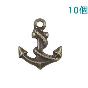 チャームプレート 錨(いかり) アンティーク 10個入り【ゆうパケット可能】|daiomfg