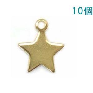 チャームプレート 星型10mm ゴールド 10個入り【ゆうパケット可能】|daiomfg