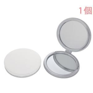 コンパクトミラー 丸型 両面ミラー (拡大鏡付) CR72 パンケーキ ポリウレタン製(合皮) 1個入り|daiomfg