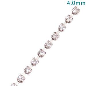 チェーン切売り m単位 ダイヤレーンチェーン 4.0mm クリア 錫メッキ【ゆうパケット可能】|daiomfg