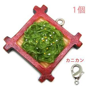 食品サンプルマスコットチャーム 軽食 茶そば (ヒートン&カニカンC25付)【ゆうパケット可能】|daiomfg