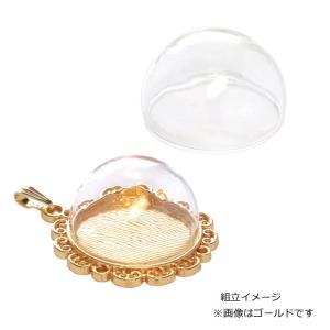 ガラスドーム 半球型 25×15mm ゴールド 1個入り|daiomfg|02