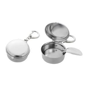 携帯灰皿 B383 丸型 シルバー【ゆうパケット可能】|daiomfg