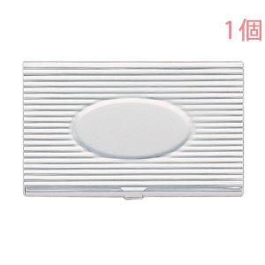 カードケース 337 アルミ製 シルバー (模様入) 1個入り【ゆうパケット可能】|daiomfg