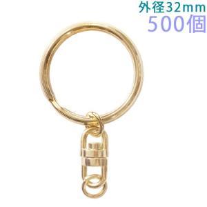 キーホルダー 三角押二重リングキーチェーン 304B 500個入り (ゴールド)|daiomfg