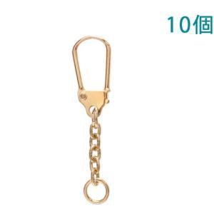 キーホルダー 馬蹄型キーチェーン 333 10個入り (ゴールド)【ゆうパケット可能】|daiomfg
