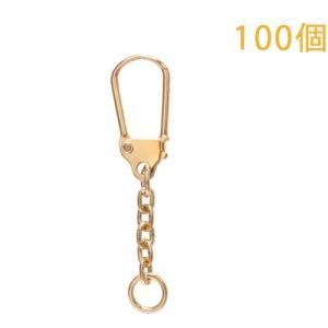 キーホルダー 馬蹄型キーチェーン 333 100個入り (ゴールド)|daiomfg