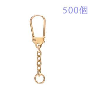 キーホルダー 馬蹄型キーチェーン 333 500個入り (ゴールド)|daiomfg