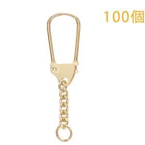 キーホルダー 馬蹄型キーチェーン 444 100個入り (ゴールド)|daiomfg