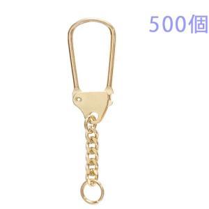 キーホルダー 馬蹄型キーチェーン 444 500個入り (ゴールド)|daiomfg