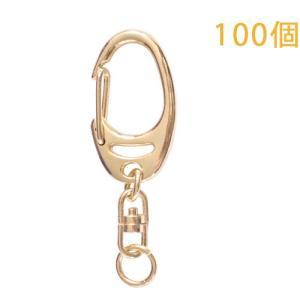キーホルダー ワンタッチキーチェーン 777 100個入り (ゴールド) daiomfg