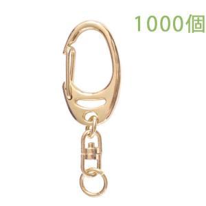 キーホルダー ワンタッチキーチェーン 777 1000個入り (ゴールド) daiomfg