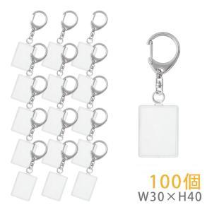 ハメパチ 長方形 KK40×30 100個入り (キーホルダー 555L付)|daiomfg
